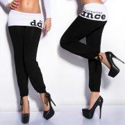 Divatos fekete nadrág