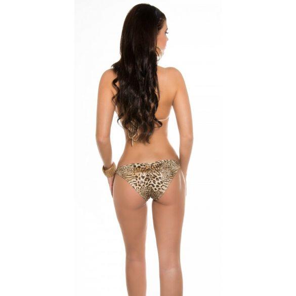 Leopárd mintás megkötős bikini