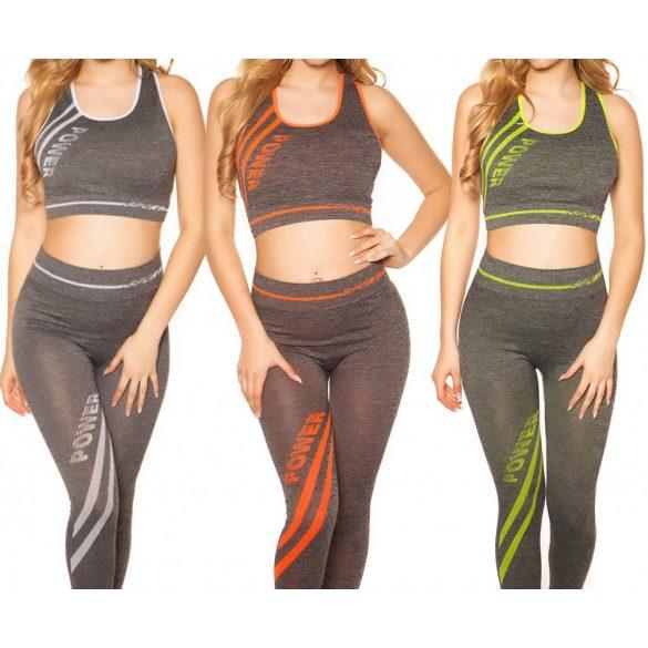 2e6c14f7eb Fitnesz crop top + leggings szett - Venus fashion női ruha webáruház -  Elképesztő árak - Szállítás 1-2 munkanap