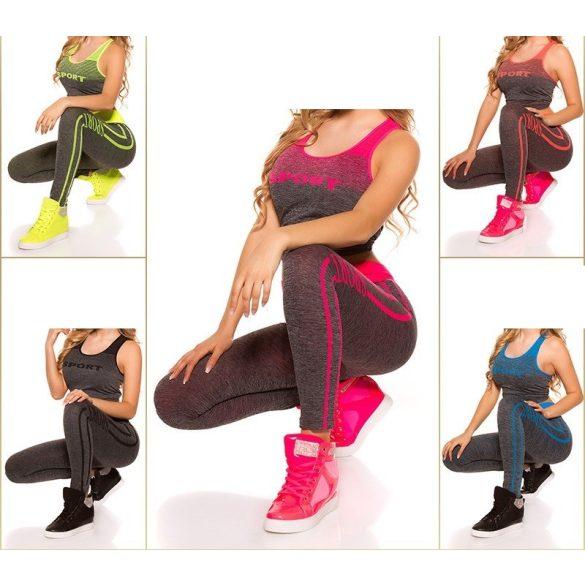 Sport fitnesz felső + leggings szett