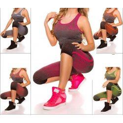 Fitnesz felső + kapri leggings szett