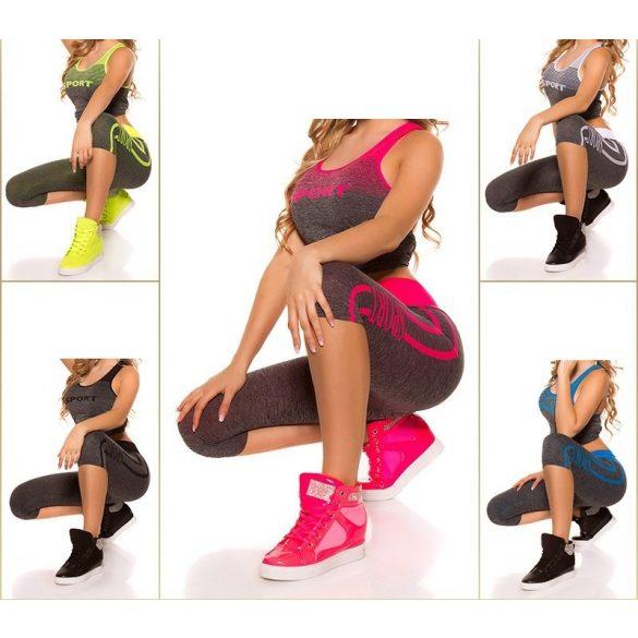 Sport fitnesz felső + kapri leggings szett
