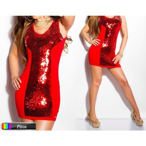 Flitteres ujjatlan testhezálló ruha