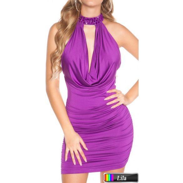 Dekoratív nyakpántos ruha