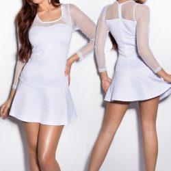 Necc betétes fehér ruha
