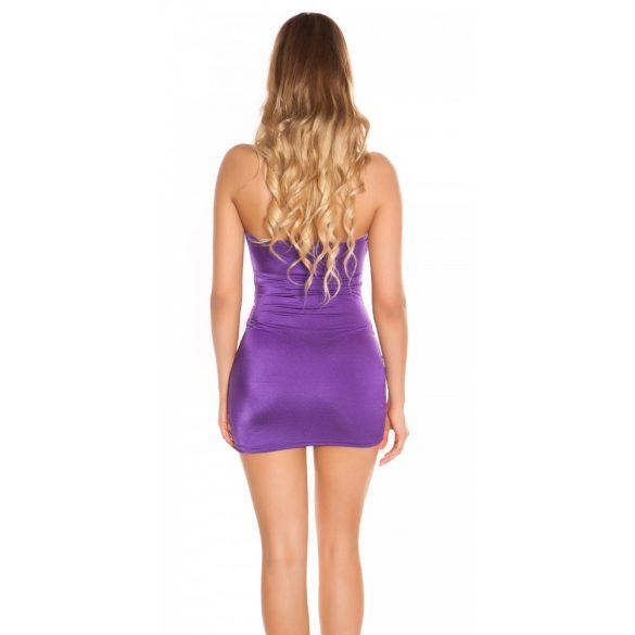 Pánt nélküli lila ruha