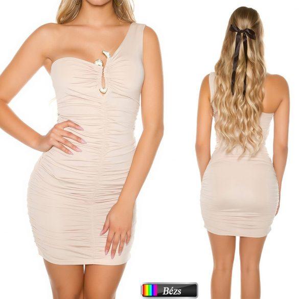 Dekoratív félvállas ruha
