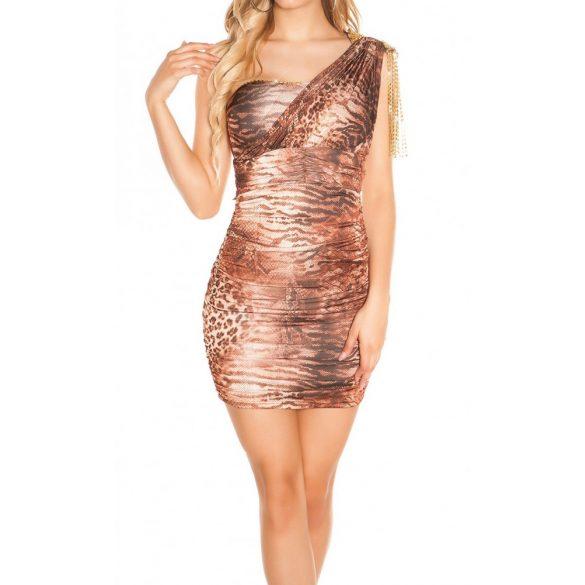 Félvállas láncos ruha