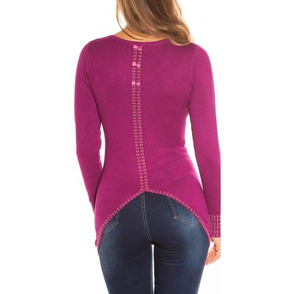 Masnis strasszos pulóver