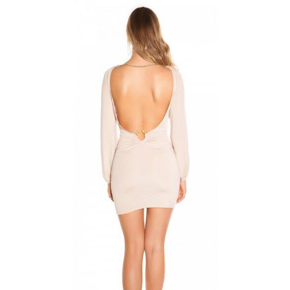 Nyitott hátú láncos ruha