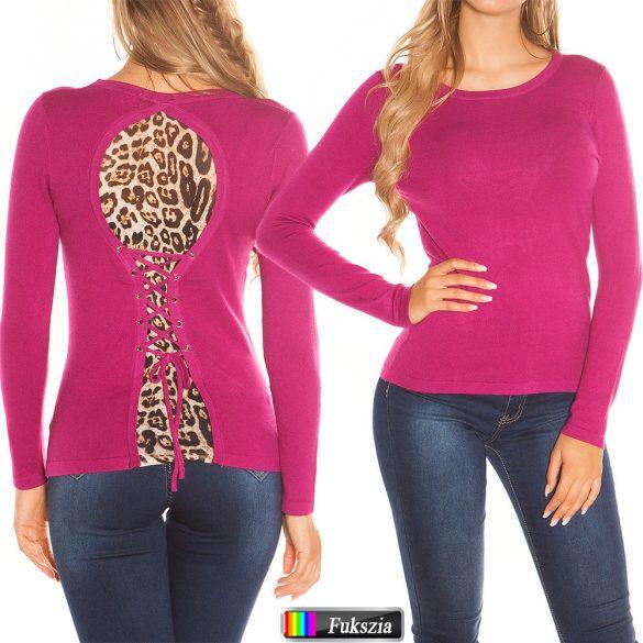 Fűzős kötött pulóver