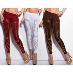 Arany díszes leggings