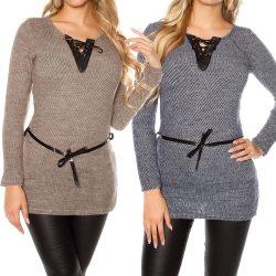 Csipkés masnis pulóver