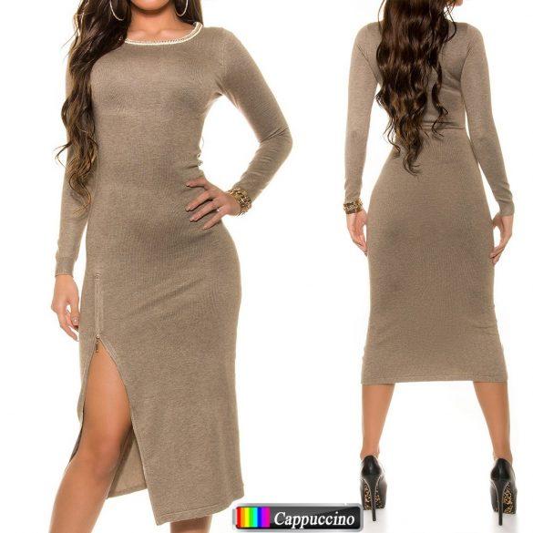 Oldalt cipzáras maxi ruha