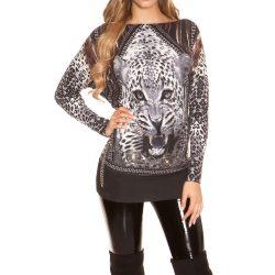 Mintás kötött pulóver