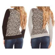 Leo mintás kötött pulóver