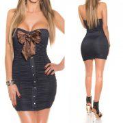 Pánt nélküli testhezálló masnis ruha