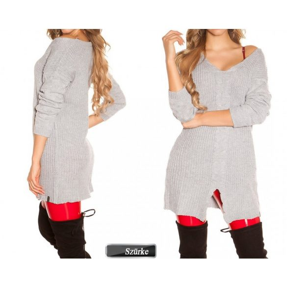Dupla rétegű masnis pulóver