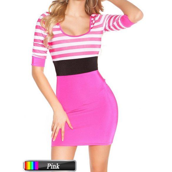 Csíkos ruha 3 színben