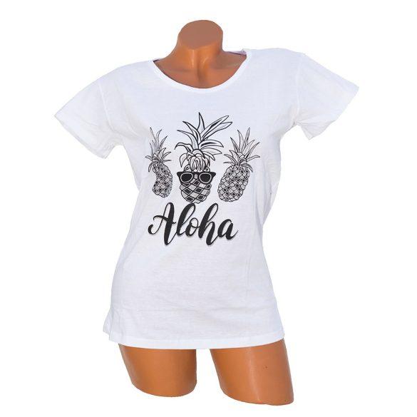 Aloha feliratos póló