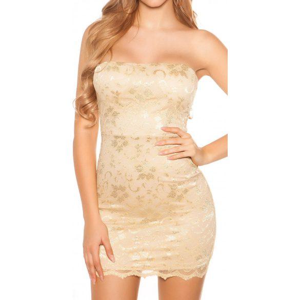 Pánt nélküli csipkés ruha