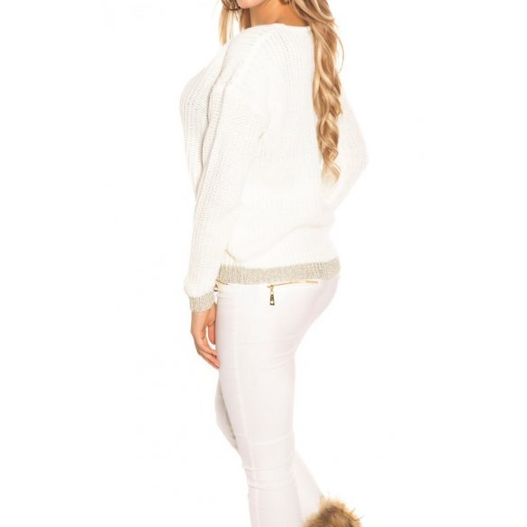 Kötött lurex pulóver