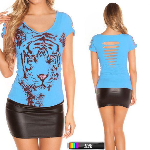 Tigris mintás felső