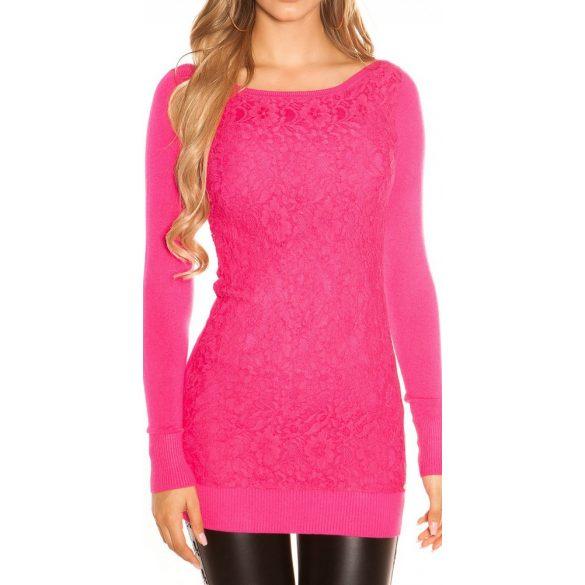 Csipkés pulóver