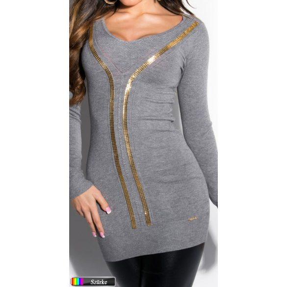 Arany díszes pulóver