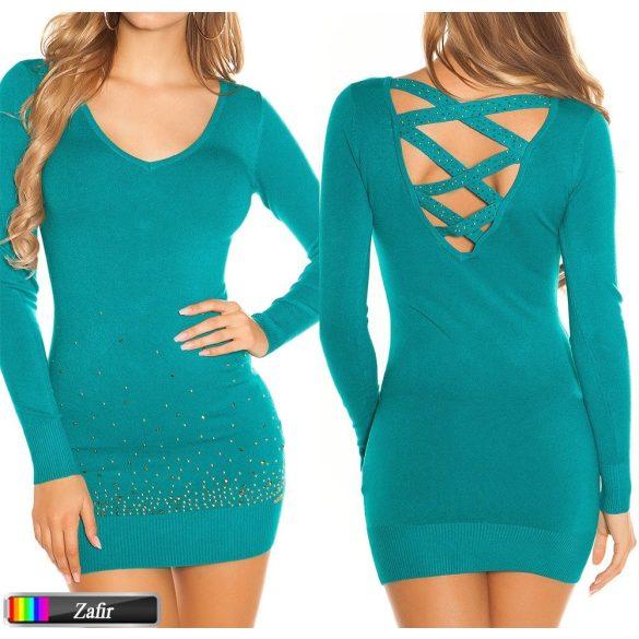 Keresztpántos kötött pulóver több színben