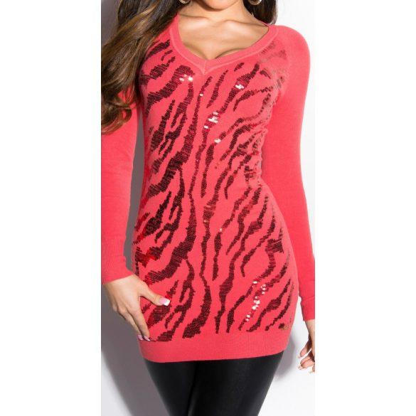 Flitteres hosszított pulóver