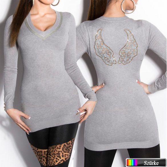 Dekoratív  kötött pulóver