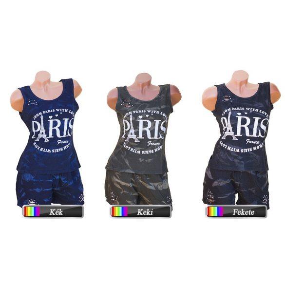 Feliratos 2 részes rövidnadrág + trikó S-M-L