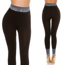 Sport feliratos leggings nadrág