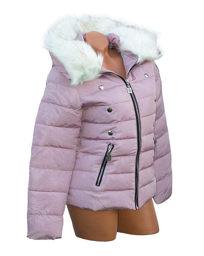 Szőrmés kapucnis steppelt dzseki Venus fashion női ruha we