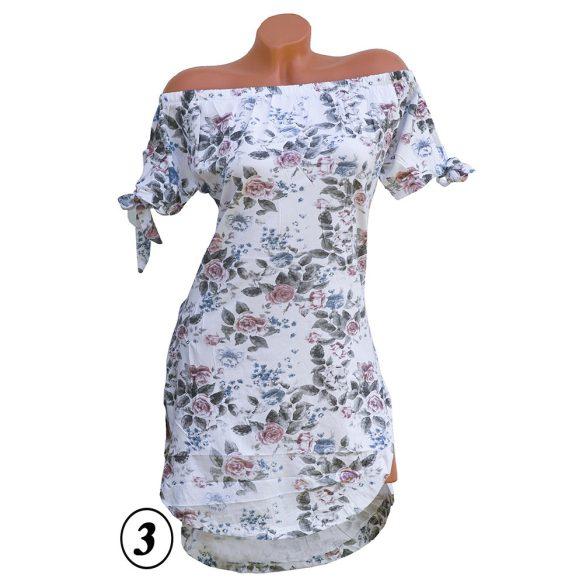 Ujján megkötős virágmintás ruha S-M-L