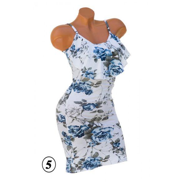 Fodros virágmintás ruha