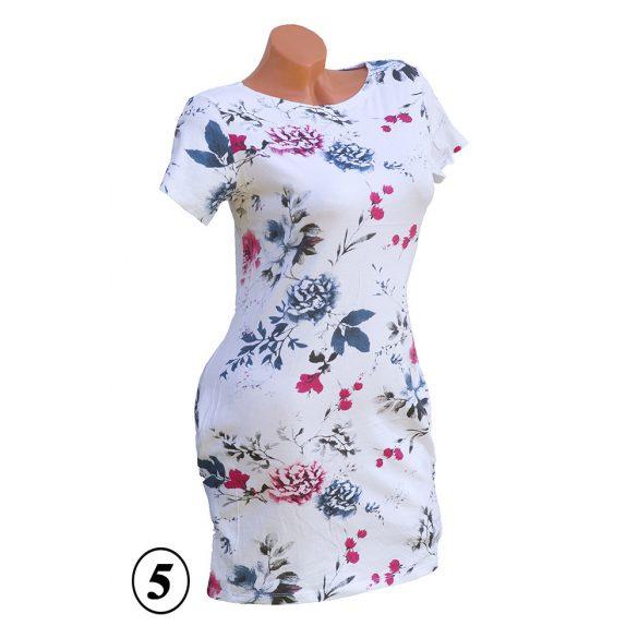 Virágmintás zsebes ruha