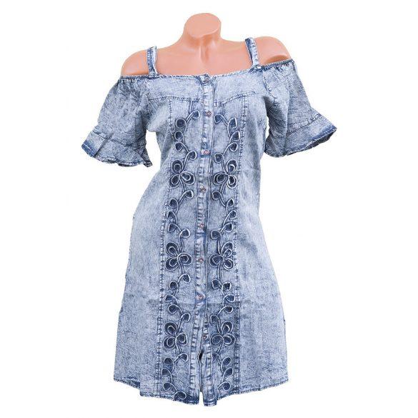 Nyitott vállú farmer ruha
