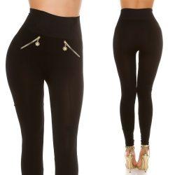Alakformáló magasított derekú leggings nadrág