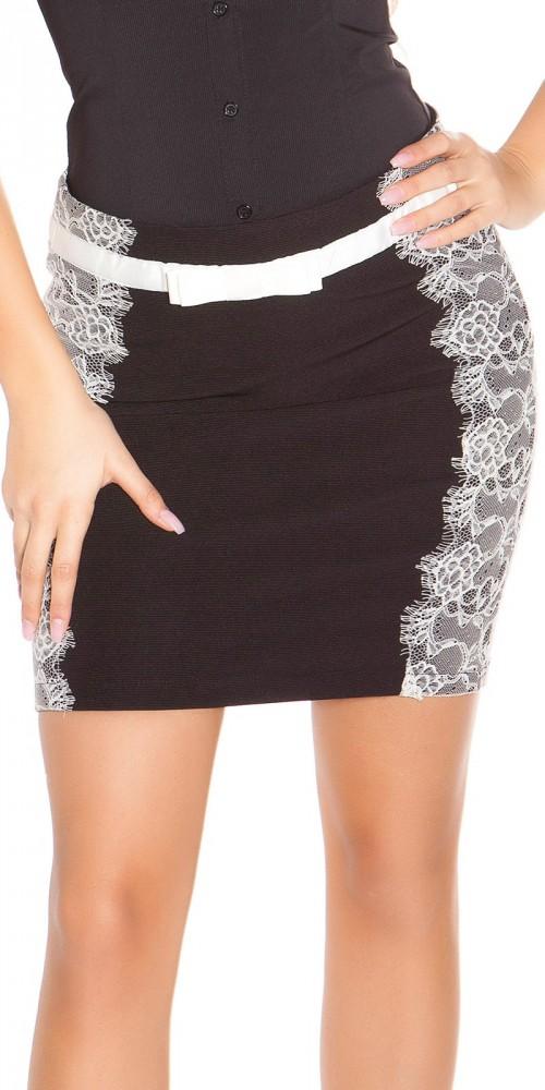 Elegáns csipkebetétes szoknya - Venus fashion női ruha webáruház ... 34a1c7f099