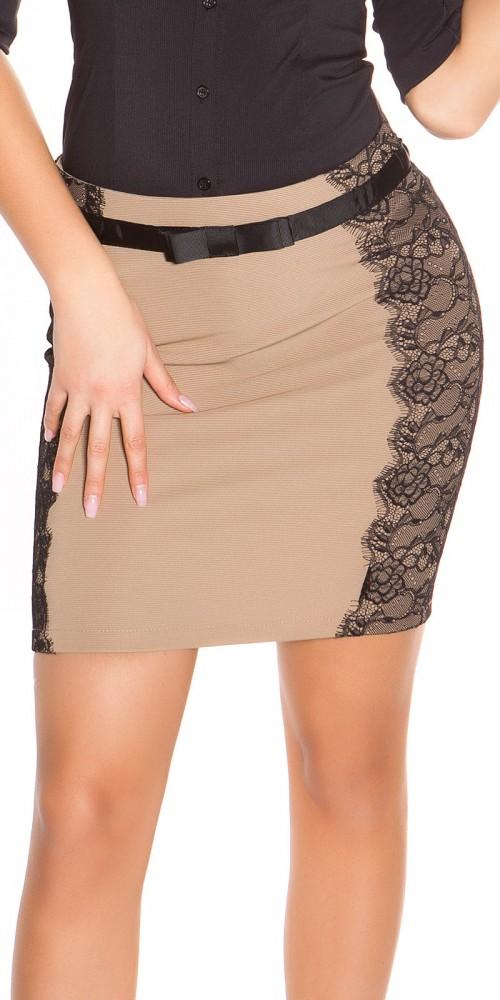 7a0e6e5589 Elegáns csipkebetétes szoknya - Venus fashion női ruha webáruház ...