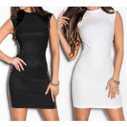 Business ruha bőr hatású betéttel