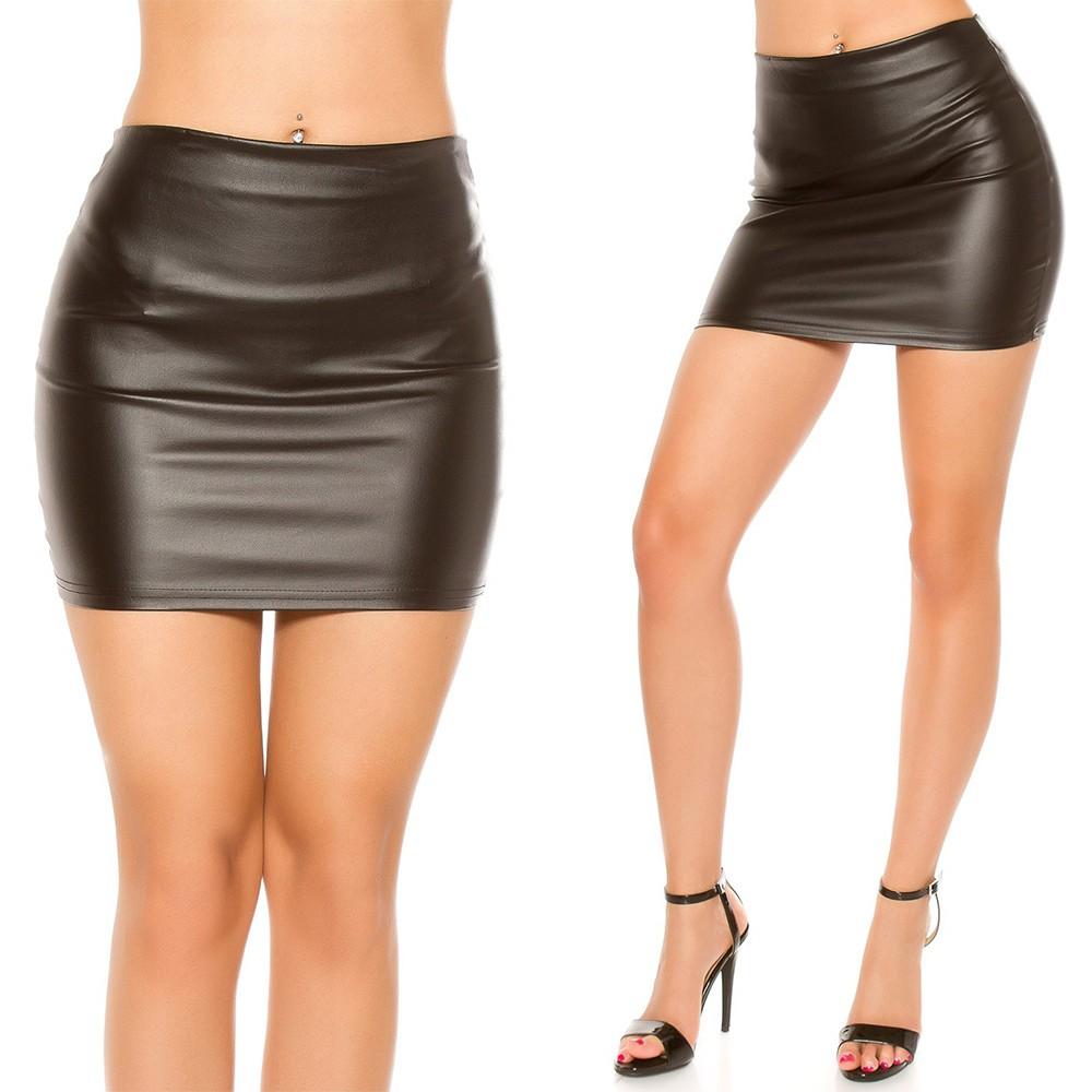 67a1a300a9 Bőr hatású szoknya - Venus fashion női ruha webáruház - Elképesztő ...