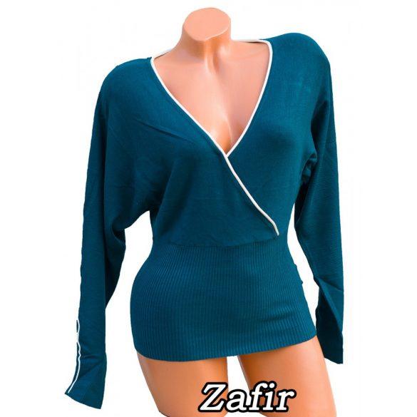 Átlapolt kötött pulóver 7 színben S/M - M/L