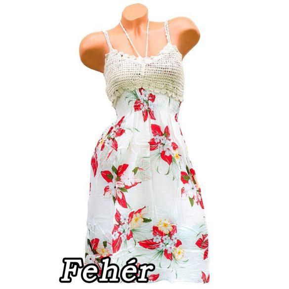 Virágmintás ruha horgolt felső résszel