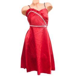 Piros szatén alkalmi ruha