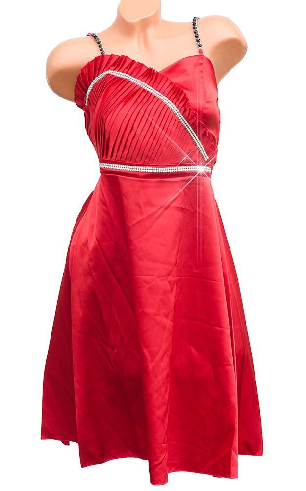 a5fb72a90625 Piros szatén alkalmi ruha - Venus fashion női ruha webáruház ...