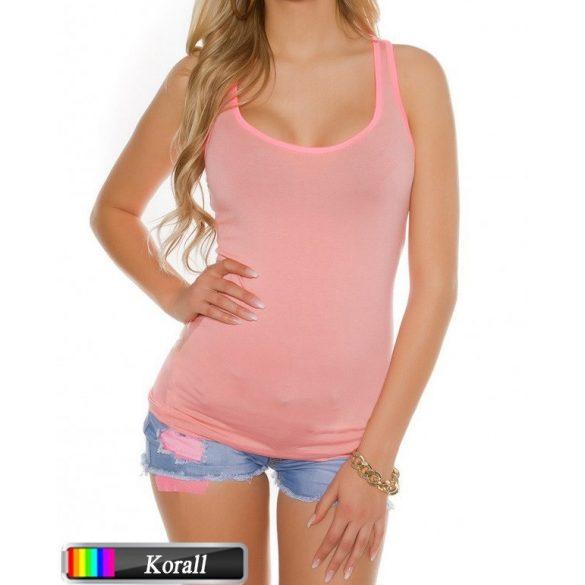 Pink szegélyes színes felső