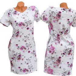 Zsebes virágmintás ruha